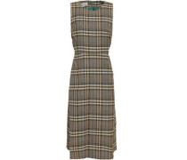 Checked Jacquard Dress Sage Green