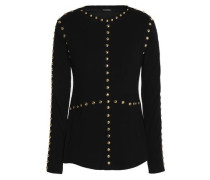 Studded wool and silk-blend sweater