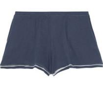 Pima cotton-jersey pajama shorts