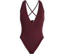 Open-back Swimsuit Burgundy