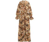 Woman Metallic Printed Fil Coupé Silk-chiffon Maxi Dress Multicolor