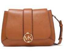 Logo-embellished Leather Shoulder Bag Light Brown Size --