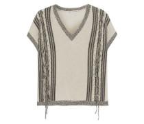 Fringed cotton sweater