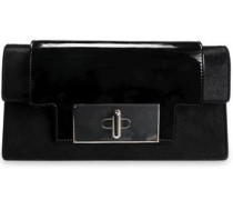 Mischief Patent-leather And Calf Hair Clutch Black Size --