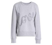 Sequin-appliquéd cotton-terry sweatshirt