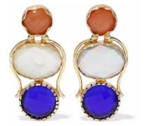 Gold-tone Stone Earrings Multicolor Size --