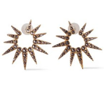 Gold-tone Crystal Earrings Rose Gold Size --