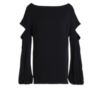 Dahlia cutout stretch-silk blouse