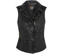 Leather Vest Black Size 12