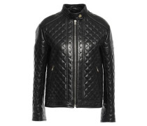 Quilted Leather Jacket Black
