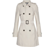 James double-breasted gabardine trench coat
