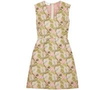 Floral-jacquard Dress Light Green