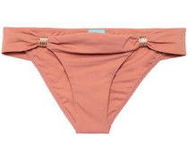 Embellished Low-rise Bikini Briefs Antique Rose Size 16