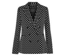 Jenise double-breasted polka-dot twill blazer
