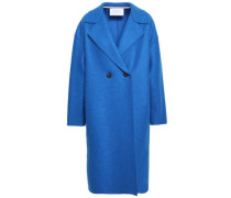 Double-breasted Virgin Wool-felt Coat Bright Blue