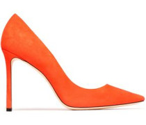 Suede Pumps Bright Orange