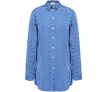 Woman Jacquard Shirt Blue