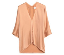 Washed silk-blend top