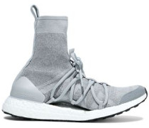 Ultraboost Stretch-knit High-top Sneakers Stone