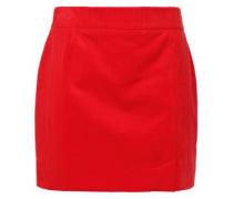 Woman Cotton-corduroy Mini Skirt Red