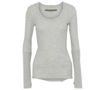 Mélange cotton and cashmere-blend top