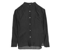 Cotton and silk-blend mousseline shirt