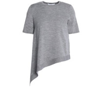Asymmetric merino wool top