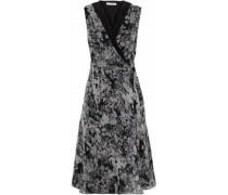 Floral-print silk-chiffon wrap dress