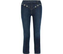 Le High Straight Studded High-rise Straight-leg Jeans Mid Denim  3