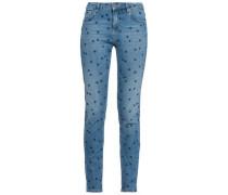 Printed Mid-rise Skinny Jeans Mid Denim  4