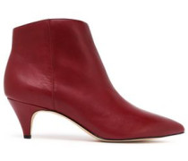 Leather Ankle Boots Merlot