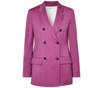 Double-breasted Wool Blazer Magenta