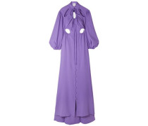 Cry Baby Cutout Crepe Gown Lavender