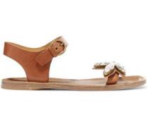 Rivington crystal-embellished leather sandals