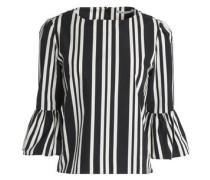 Bernice striped cotton-poplin top
