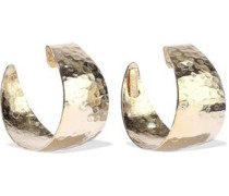 Timo Hammered Gold-tone Hoop Earrings Gold Size --