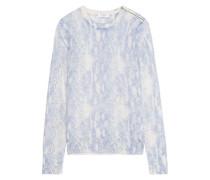Ondine intarsia silk and cashmere-blend sweater