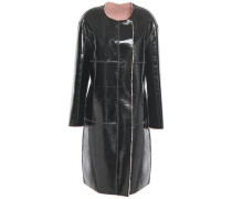 Woman Idette Reversible Faux Shearling And Vinyl Coat Black
