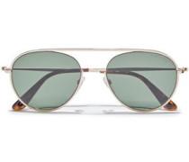 Keith Aviator-style Gold-tone Sunglasses Dark Green Size --