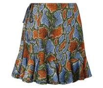 Woman Printed Jersey Mini Skirt Multicolor