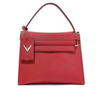 My Rockstud Pebbled-leather Tote Red Size --
