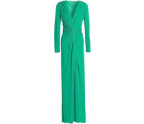 Twist Crepe Gown Emerald Size 0