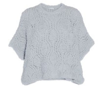 Bouclé-knit cashmere-blend sweater