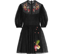 Leo embroidered lace mini dress