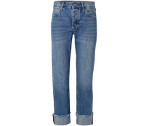 Mid-rise Straight-leg Jeans Mid Denim  6