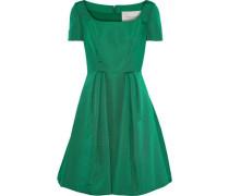 Woman Pleated Silk-faille Dress Green