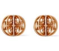 Woman Gold-tone Clip Earrings Gold