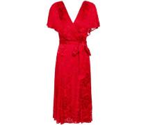 Darva Wrap-effect Fil Coupé Chiffon Dress Red Size 0