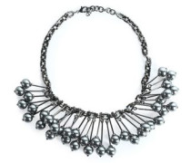 Gunmetal-tone necklace
