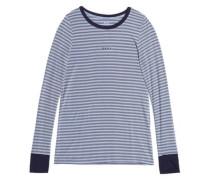 Striped stretch modal-jersey pajama set